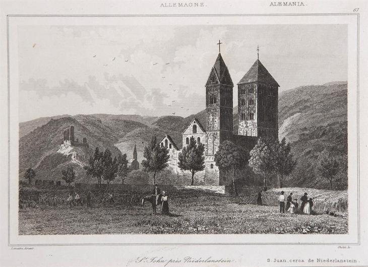 Niederlastein, Le Bas, oceloryt 1842 - Antikvariát