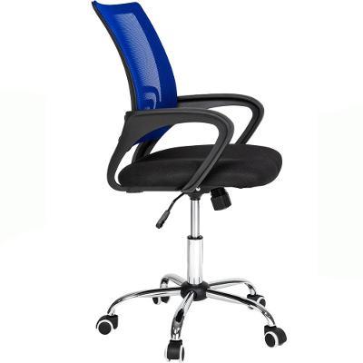 tectake 401791 kancelářská židle marius - černá/modrá