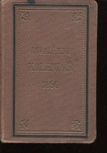 Divadelní kalendář na rok 1890, ročník IX.