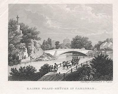 Karlovy Vary, Naumburg,  oceloryt, (1830)