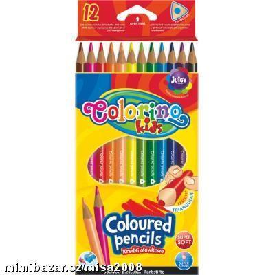 Colorino pastelky Trio 12 barev + ořezávátko