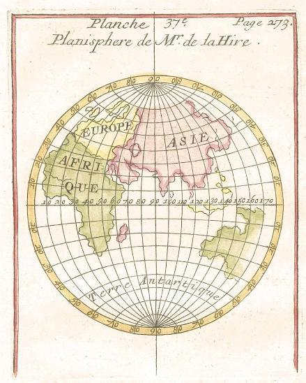 Planisphaere, kolor. mědiryt , (1780) - Antikvariát