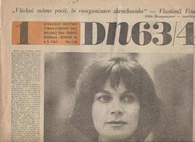 Divadelní noviny, ročník. VII./1963. Čtrnáctideník pr