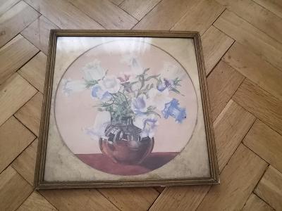 Starý obraz - KVĚTINA VE VÁZE - signováno SCHMEER