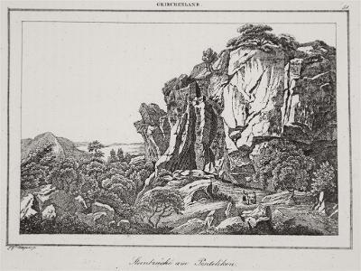 Pentelikon, Le Bas, oceloryt 1840