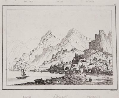 Salerno, Le Bas, oceloryt 1840