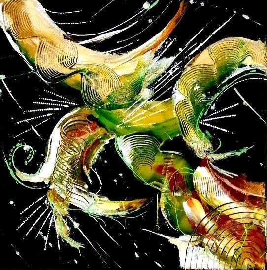 Abstraktní obraz 40x40cm - Umění