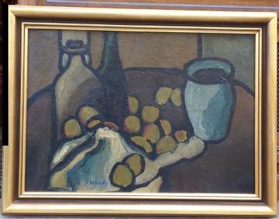 František Vobecký - Zátiší s lahvemi