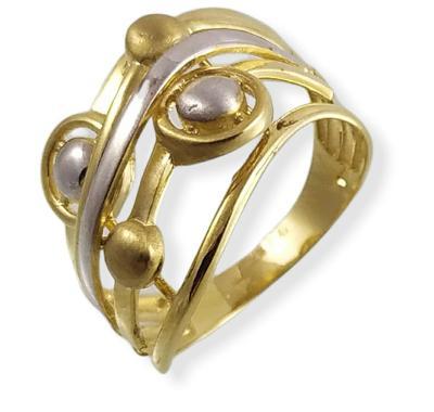 Prsten zlatý 4,02 g Au (585/1000) A 4