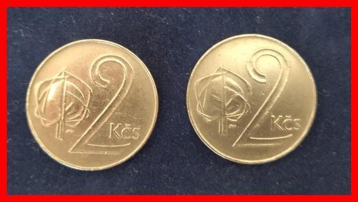 2 Koruna 1991 obě varianty !/6