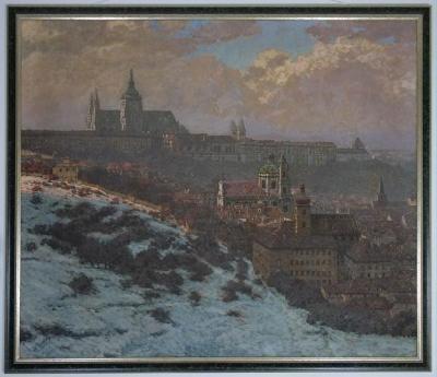 Josef Písecký - Pohled z Petřína