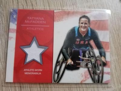 TOPPS 2012 Tatyana McFadden U.S Olympic Team Relic Karta