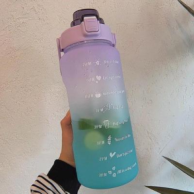 Luxusní plastová matná láhev s velkou kapacitou FIALOVÁ+ZELENÁ