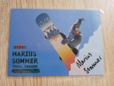 FLEER 200 Adrenaline Snowboarding Marius Sommer Podpísaná Kartička