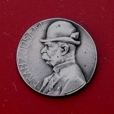 Rakousko-Uhersko - Lovecká medaile_1910_František Josef I._stříbro