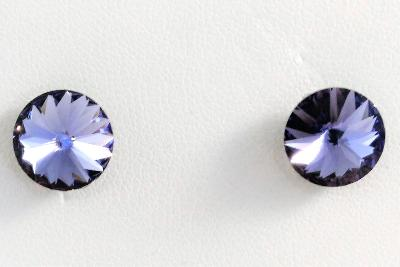 Stříbrné náušnice s krystaly Swarovski Rivoli 8 mm (SS39)
