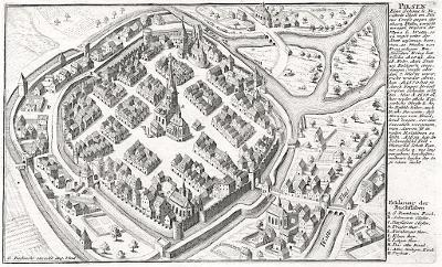Plzeň,  Bodenehr, mědiryt, 1720