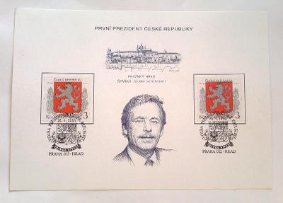 Česká republika 1993, Pamětní list, Václav Havel