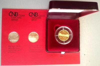 R!! Vzácná zlatá mince ČNB 2003 zámek Buchlovice PROOF - původní stav!