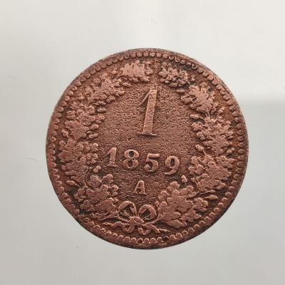 1 Kreuzer 1859/A. František Josef I.