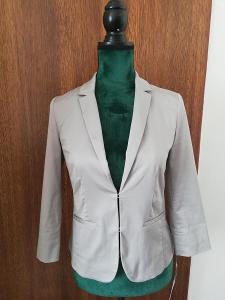 HALLHUBER-Elegantní dámské světle šedé , elastické sako, 65% BA, S/36