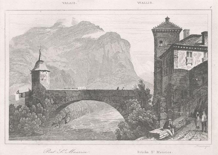 Saint Maurice Wallis, Le Bas, oceloryt 1842 - Antikvariát