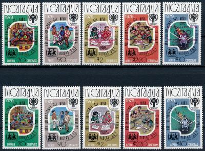 Nikaragua 1980 ** /Mi. 2080-4 a + b přetisk sport OH , komplet , /L22/