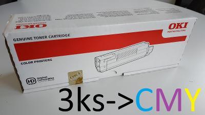 Tonery OKI C5550 MFP / C5800 / C5900 - Cyan, Magenta, Yellow