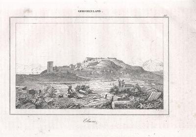 Eleusis, Le Bas, oceloryt 1840