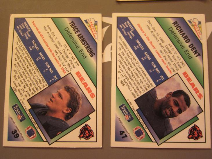 KARTY PACIFIC 1991 SPORTOVNÍ 13ks RUGBY (AMERICKÝ FOOTBALL) - Sportovní sbírky
