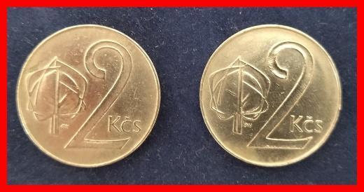 2 Koruna 1991 obě varianty !/5