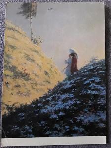 """Pohlednice Max Švabinský - ilustrace k Máchovu """" Máji """" 1900"""
