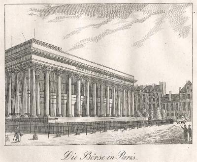 Paris burza, Medau, mědiryt , 1830