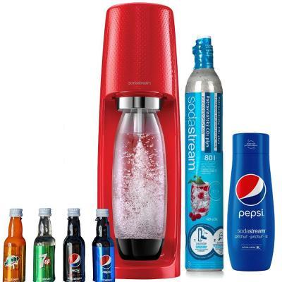 SodaStream Spirit Pepsi MEGAPACK červený