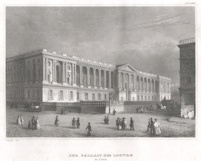 Paris Louvre, Meyer, oceloryt, 1850