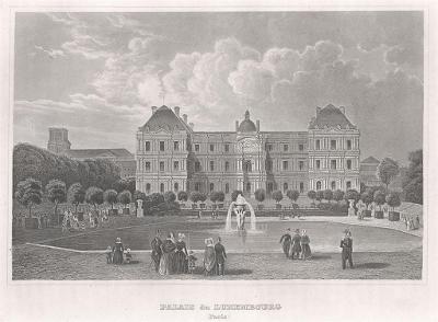 Paris Luxembourg Meyer, oceloryt, 1850