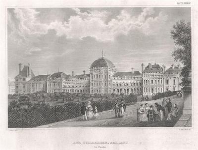 Paris  Tuillerien, Meyer, oceloryt, 1850