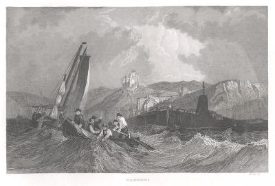 Treport, oceloryt, 1850
