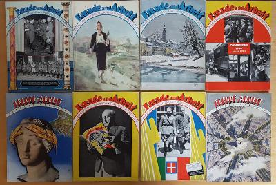 17ks Freude und Arbeit nazi propaganda nacistický časopis