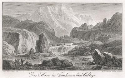 Elbrus, Weidmann,  mědiryt, 1843