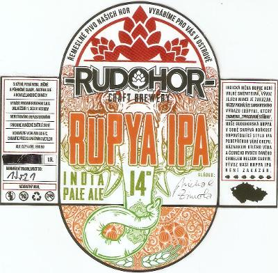 PE pivní etiketa, pivovar: Ostrov (samolepka viz popis)