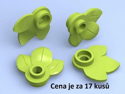 LEGO dílek 17 ks Bright Green Plant Plate 32607