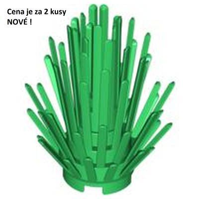 LEGO dílek 2x Zelený Green Plant Prickly Bush 2 x 2 x 4 52208 NOVÉ!