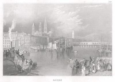 Rouen, Meyer, oceloryt, 1850