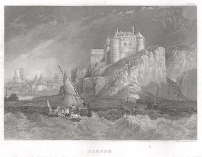 Dieppe,  Meyer, oceloryt, 1850