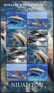Niuafo ou-Delfíni a velryby 2020**  Mi.Klb.761-764 / 46 €