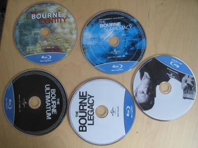 Prodám kolekci Jason Bourne 1-5 bluray