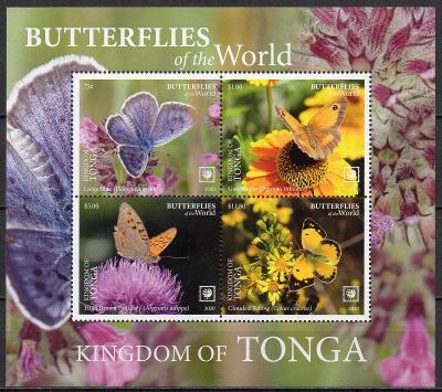 Tonga-Motýli 2020**  Mi.Bl.137 / 185.-Kč