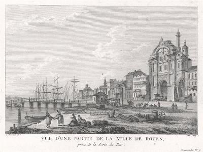 Rouen , mědiryt, (1780)