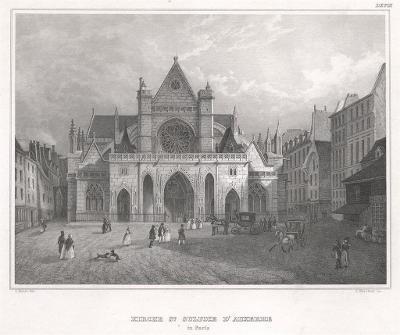 Paris Sulpice DˇAuxere, Meyer, oceloryt, 1850